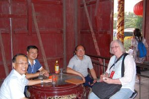China In lustiger Runde in Yangcheng